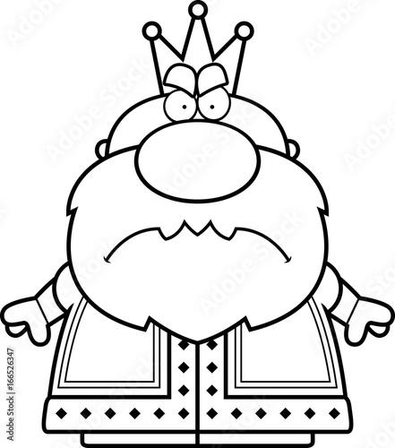 Photo  Cartoon Angry King