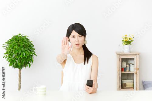 女性 制止 Tablou Canvas