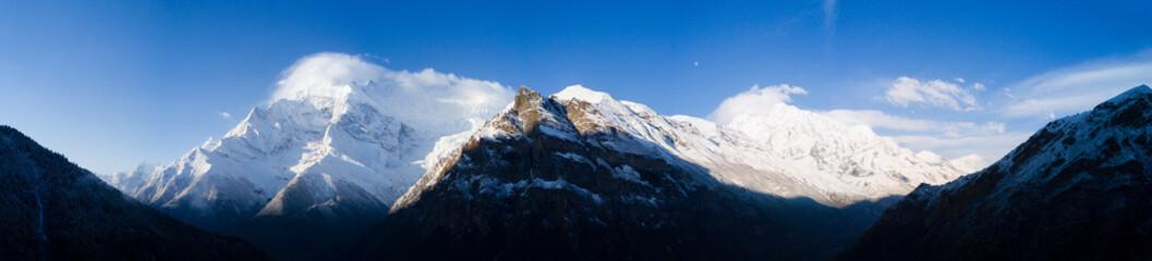 FototapetaPanorama Annapurna Mountain Range Himalayas Nepal