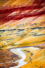 Obraz Painted Hills detail, John Day Fossil Beds National Monument, Or