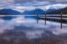The Dock On Lake MacDonald In Glacier National Park.