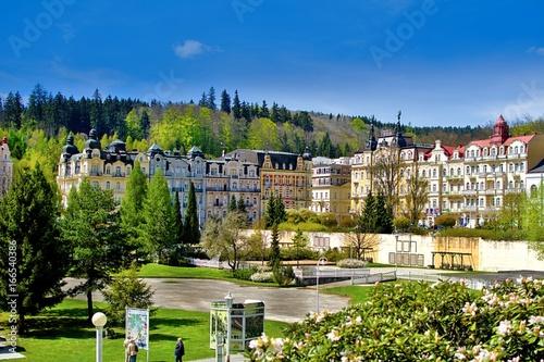 Photo Center of the spa town Marianske Lazne (Marienbad) - great famous Bohemian spa t