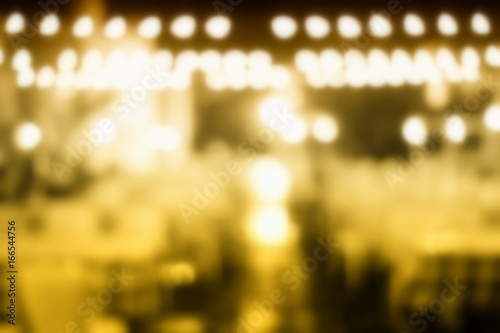Abstract Blurred Bokeh of Restaurant Background.