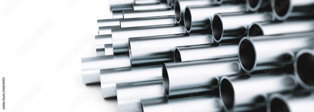 Fototapeta copper metal pipe 3d Illustrations