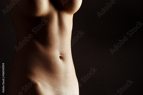 Sexy body nude woman. Naked sensual beautiful girl