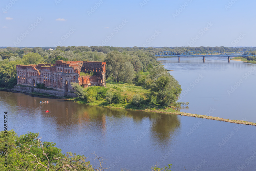 Fototapety, obrazy: Ruins of granary - Modlin Fortress (Twierdza Modlin), big 19th century fortresses in Poland. It is located in  Nowy Dwor Mazowiecki, district Modlin on Narew river, 50 kilometres north of Warsaw.