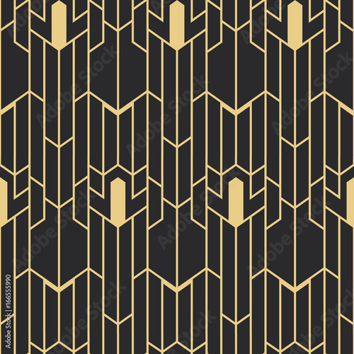 Photo  Abstract art deco seamless pattern