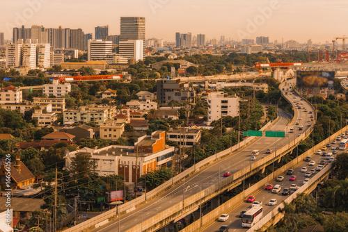 High angle view of Bangkok Thailand. Wallpaper Mural