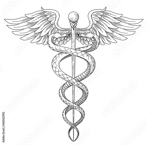 Cadeus Medical Medecine Pharmacy Doctor Acient High Detailed Symbol