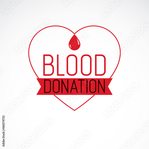 Blood Donation Metaphor Heart Shape And Blood Drops Medical Theme