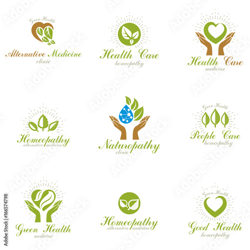 Homeopathy Creative Symbols Collection Restoring To Health