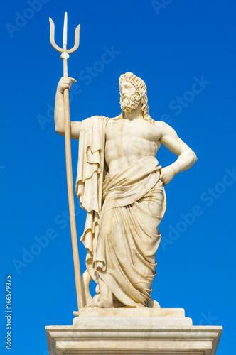 Statue of Poseidon Wallpaper Mural