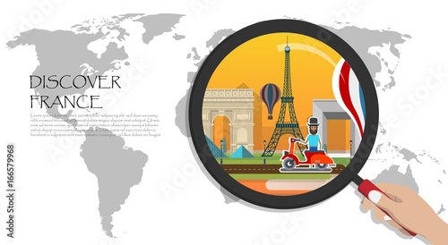 Travel infographic.Paris infographic; welcome to France ...