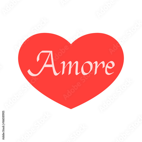 Amore Hand Drawn Phrase Love In Italian Lettering For Valentines