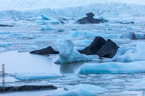 Poster Scandinavië Glacier landscape in Iceland