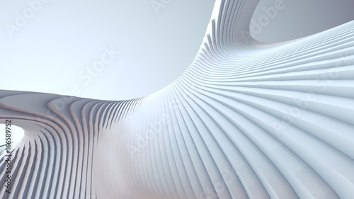 white-stripe-pattern-futuristic-background-3d-render-illustration