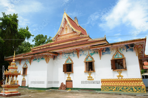 The territory of the temple Phra That Luang Vientiane, Laos