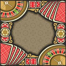 Vector Poster For Casino: Fram...