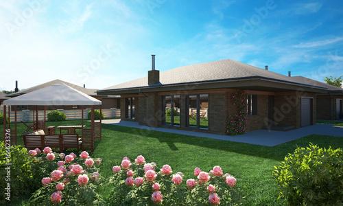 Fotografia, Obraz dream house cottage