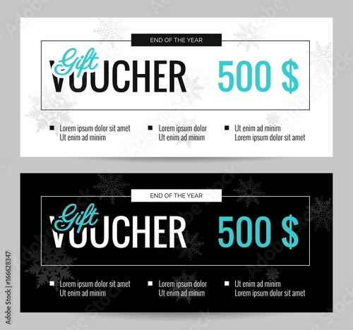 christmas gift voucher coupon discount elegant gift certificate template for merry christmas shopping concept - Shopping Certificate Template