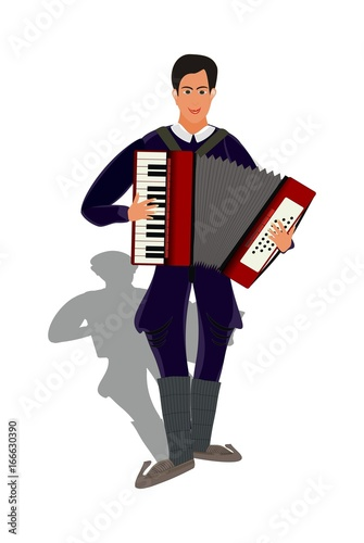 Fotografia, Obraz  accordionist - accordion