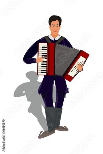 Valokuva  accordionist - accordion