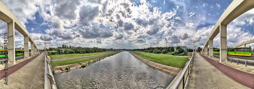 Saint Rocha bridge in Poznan City on Warta river - Great Poland / Greater Poland