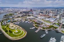 Aerial View Of Long Beach Pike...