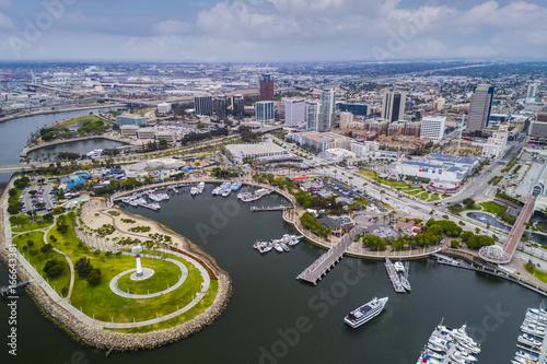 Fényképezés  Aerial view of Long Beach Pike, California
