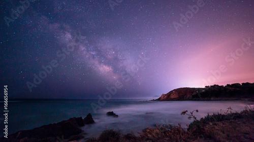 Foto op Plexiglas Zee / Oceaan Milky way in the sky of Sardinia