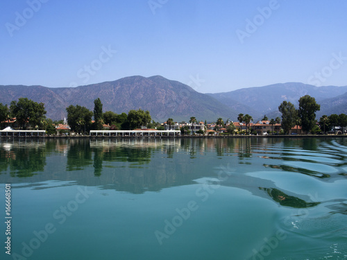 Photo Stands Dalyan was once a village of fishermen and farmers
