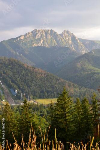 Plakat góry Tatry - widok na Giewont