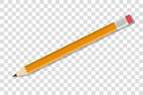 Bleistift auf transparentem Hintergrund