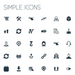 Vector Illustration Set Of Simple Engineering Icons. Elements Retail, Download, Report And Other Synonyms Almanac, Repeat And Buy.