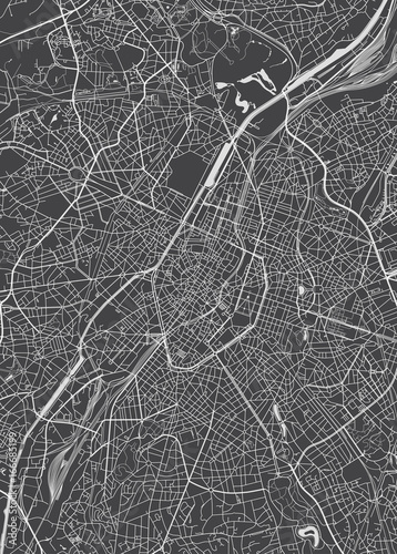 Fotografía Brussels city plan, detailed vector map