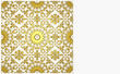 Greeting card template with golden moroccan ornament. 3D rendered Illustration
