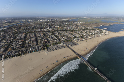 Aerial view of Seal Beach in Southern California.