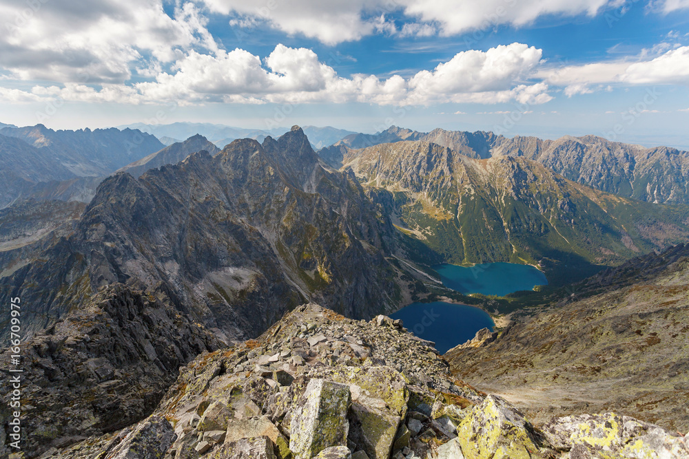 Fototapety, obrazy: High Tatra Mountains, aerial view from Rysy peak