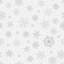 Snowflake Vector Seamless Patt...