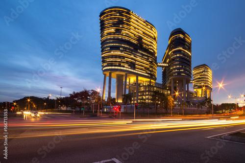 Fotomural  Putrajaya building during sunset
