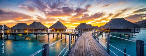 Foto-Schiebegardine Komplettsystem - Sonnenuntergang Panorama am Meer (von eyetronic)