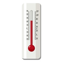 Outdoor Thermometer Icon, Cart...