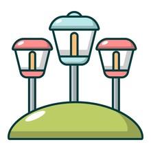 Solar Lamps Garden Light Icon,...