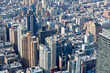 New York City Manhattan aerial view with skyscrapers and buildings background