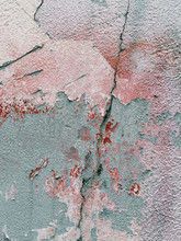 Close Up Of Peeling Paint And Weathered Wall
