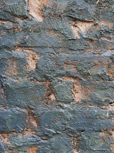 Close Up Of Painted Brick Wall