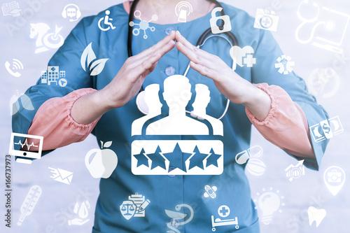 Fotografía  Client Satisfaction Health Care concept