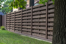 Wooden Fence In Scandinavian S...