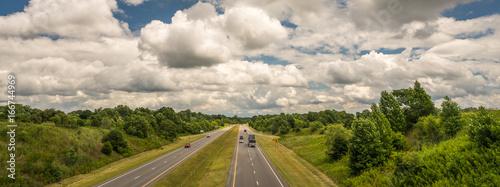 Cuadros en Lienzo I40 overpass in North Carolina - Summer Clouds