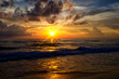Ocean waves and beach with sand on Phuket island, Thailand